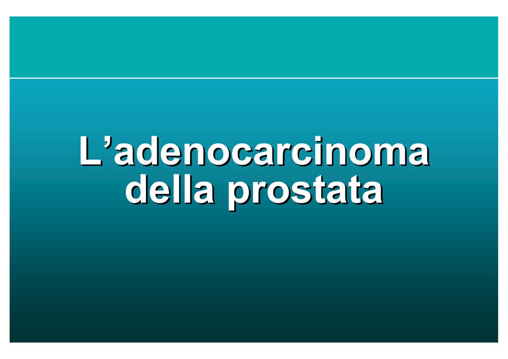 adenocarcinoma prostatico de angelis el