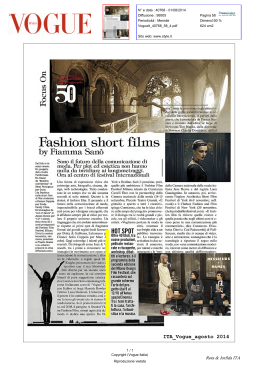 Fashion short films - Milano Design Film Festival