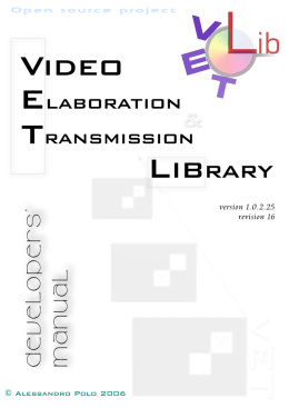VETLib - Video Elaboration & Transmission LIBrary