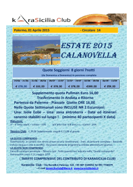 ESTATE 2015 CALANOVELLA