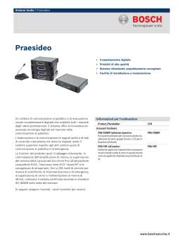 Praesideo - Bosch Security Systems