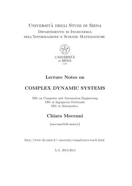 Universit`a degli Studi di Siena Lecture Notes on COMPLEX