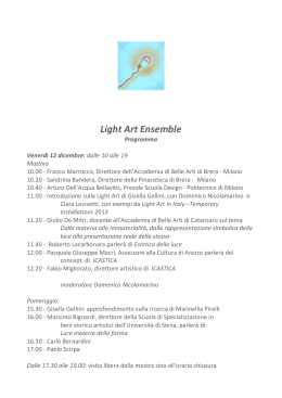 Light Art Ensemble - Accademia di Brera
