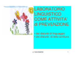 LABORATORIO LINGUISTICO COME ATTIVITA` di