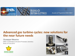 Advanced gas turbine cycles: new solutions for the near future needs