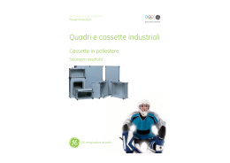 Cassette in poliestere - GE Industrial Solutions