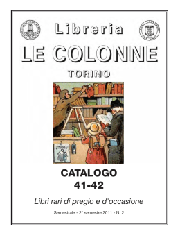 Catalogo 41-42 - Libreria Antiquaria Le Colonne
