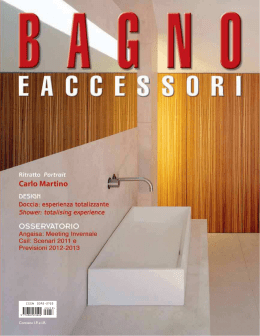 bagno e accessori april – may 2012