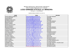 LICEO GINNASIO STATALE «A. MANZONI»