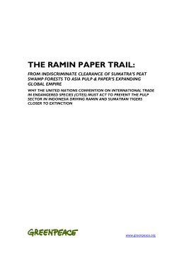 THE RAMIN PAPER TRAIL: