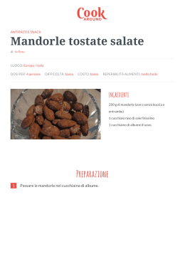 Ricetta Mandorle tostate salate - GialloZafferano.it