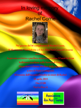 In loving memory of Rachel Corrie