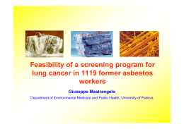Feasibility of a screening program for lung cancer in 1119