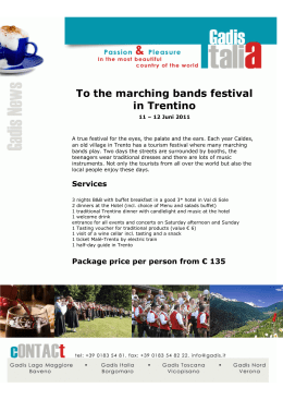 To the marching bands festival in Trentino