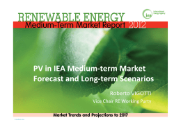 PV in IEA Medium-term Market Forecast and Long-term