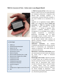 TBOX for Insurance & Fleet , l`ultima nata in casa Magneti Marelli