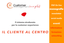 Media Kit 2016 - CMI: il magazine della customer experience
