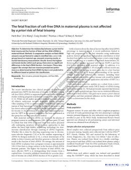 The fetal fraction of cell-free DNA in maternal plasma