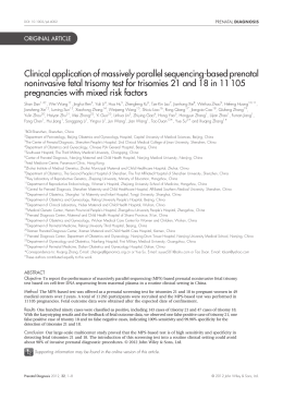 Clinical application of massively parallel sequencing