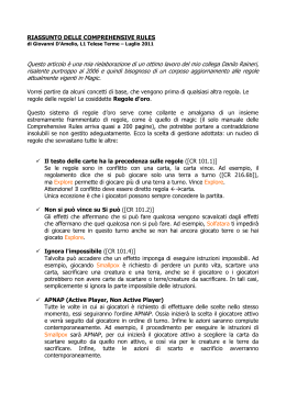 RIASSUNTO DELLE COMPREHENSIVE RULES