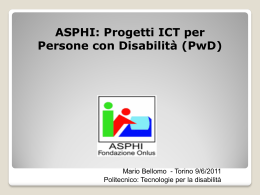 ASPHI: ICT Projects for PwD inclusion - e-Lite