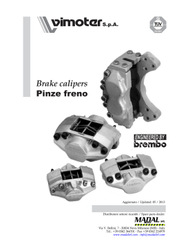 Brake calipers Pinze freno
