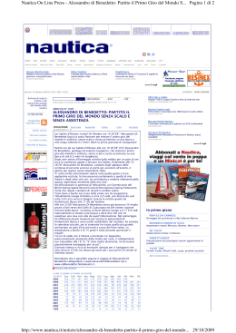 Pagina 1 di 2 Nautica On Line Press