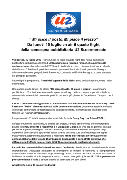 CS 4° flight U2 SUPERMERCATO