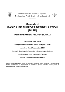 Manuale di BASIC LIFE SUPPORT DEFIBRILLATION (BLSD)