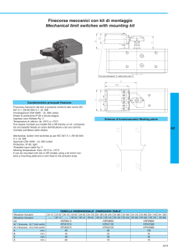 Finecorsa meccanici con kit di montaggio Mechanical limit switches