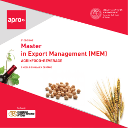 Master in Export Management (MEM)