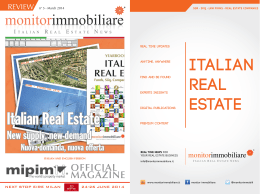 Italian real estate - Monitorimmobiliare