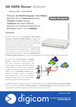 3G HSPA Router Ethernet