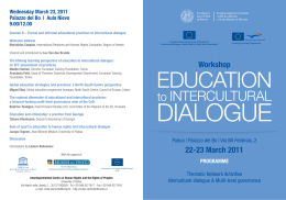 Intercultural dialogue & Multi-level Governance.