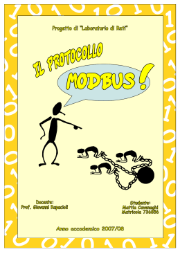 il protocollo modbus tcp/ip