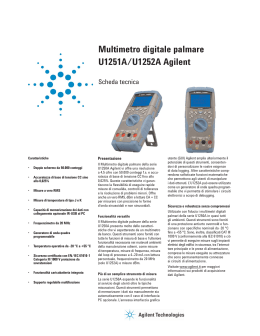 Multimetro digitale palmare U1251A/U1252A Agilent
