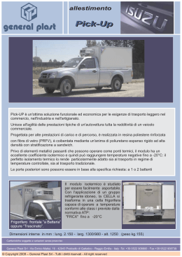 Isuzu Pick-up - General Plast srl