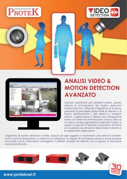 ANALISI VIDEO & MOTION DETECTION AVANZATO