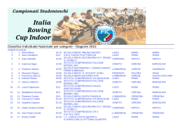 Classifica Nazionale Individuale - Cadetti