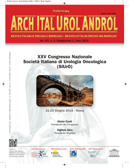 XXV Congresso Nazionale SIUrO - Programma Scientifico definitivo