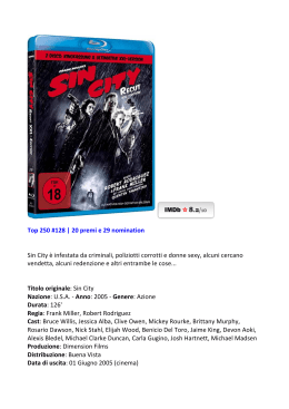 Top 250 #128 | 20 premi e 29 nomination Sin City