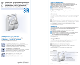 Istruzioni SIR - Systec Therm AG