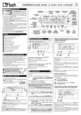 Notice pour Thermostat d`ambiance programmable - Jean