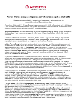 Ariston Thermo punta su efficienza energetica e innovazione