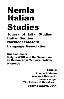 Nemla Italian Studies - University at Buffalo