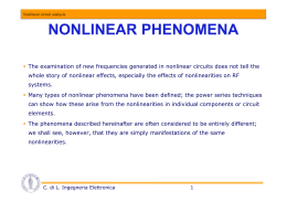 NONLINEAR PHENOMENA