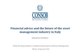Financial advice and the future of the asset management industry in
