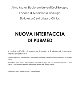 NUOVA INTERFACCIA DI PUBMED