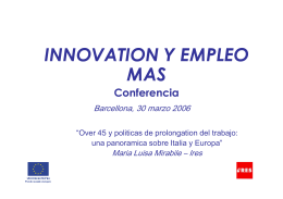 INNOVATION Y EMPLEO MAS-Conferencia
