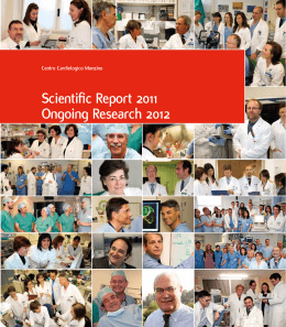 Scientific Report 2011 Ongoing Research 2012
